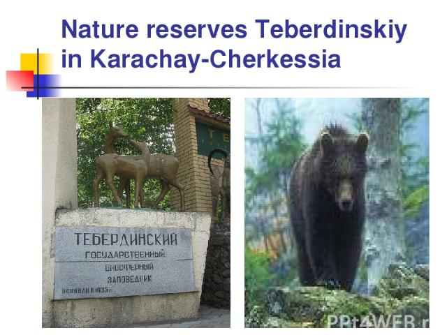 Nature reserves Teberdinskiy in Karachay-Cherkessia