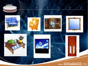 www.themegallery.com sofa armchair bookcase mirror table TV-set door LOGO