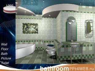 bathroom Wall Floor Bath Picture Toilet lamp LOGO