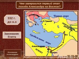 Исс Мемфис Александрия Р.Граник Завоевание Египта 332 г. до н.э Основание Алекса