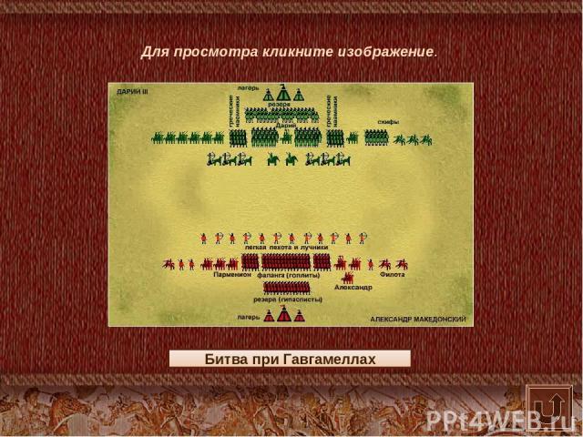 Битва при Гавгамеллах Для просмотра кликните изображение.