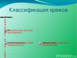 Классификация кремов