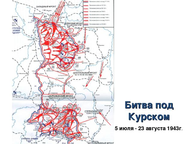 Битва под Курском 5 июля - 23 августа 1943г.