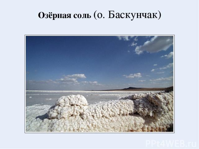 Озёрная соль (о. Баскунчак)