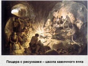 Пещера с рисунками – школа каменного века
