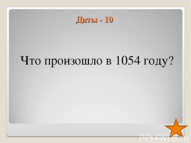 Даты - 10 Что произошло в 1054 году?