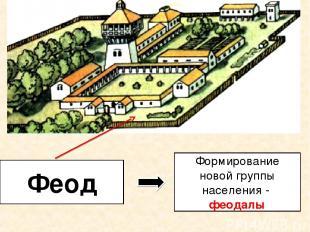 Феод Формирование новой группы населения - феодалы