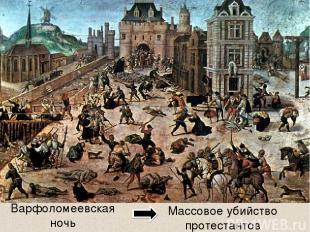 Варфоломеевская ночь Массовое убийство протестантов