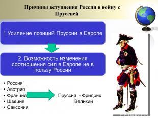 Причины вступления России в войну с Пруссией