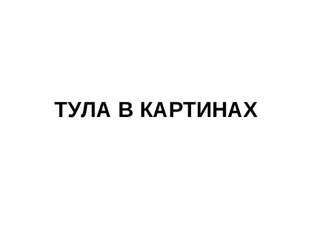 ТУЛА В КАРТИНАХ