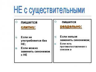 пишется слитно: Если не употребляется без НЕ; Если можно заменить синонимом с НЕ