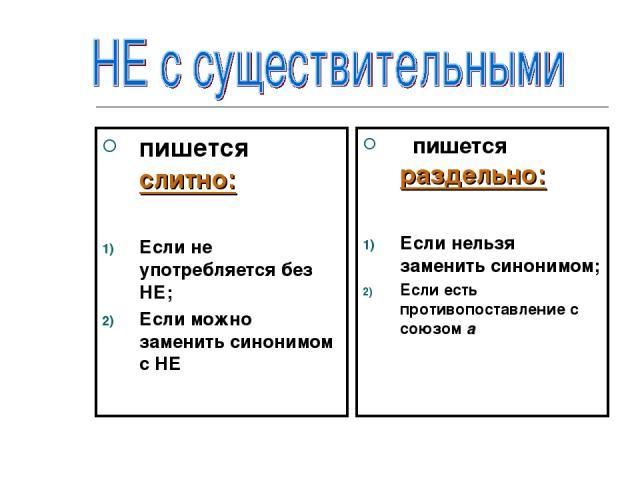 пишется слитно: Если не употребляется без НЕ; Если можно заменить синонимом с НЕ пишется раздельно: Если нельзя заменить синонимом; Если есть противопоставление с союзом а