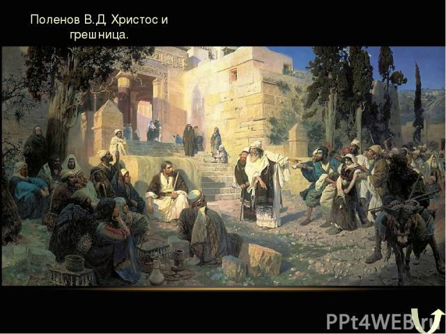 Поленов В.Д. Христос и грешница.