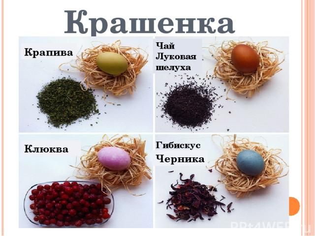 Крашенка Крапива Гибискус Черника Клюква Чай Луковая шелуха