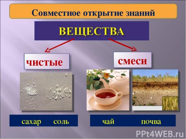 сахар соль чай почва Совместное открытие знаний