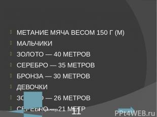 ПЛАВАНИЕ НА50М (МИН.) МАЛЬЧИКИ ЗОЛОТО— 0.43 МИНУТ СЕРЕБРО— БЕЗ УЧЕТА ВРЕМЕНИ