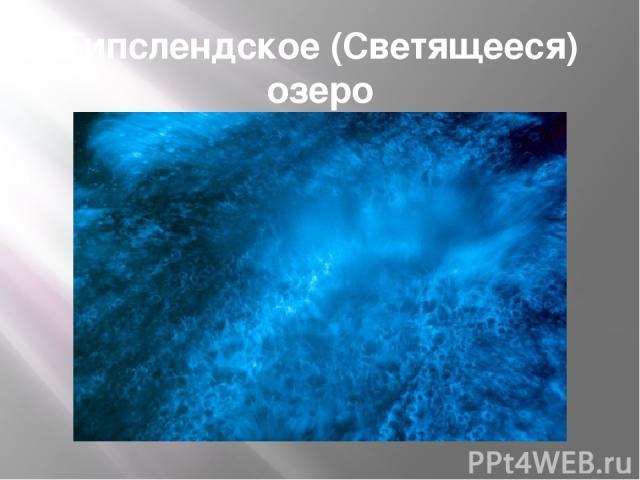 Гипслендское (Светящееся) озеро