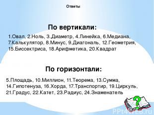 1.Овал, 2.Ноль, 3.Диаметр, 4.Линейка, 6.Медиана, 7.Калькулятор, 8.Минус, 9.Диаго