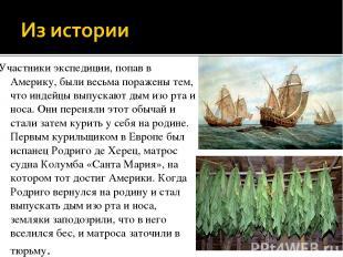Участники экспедиции, попав в Америку, были весьма поражены тем, что индейцы вып