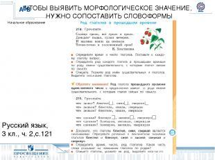 Русский язык, 3 кл., ч. 2,с.121 ЧТОБЫ ВЫЯВИТЬ МОРФОЛОГИЧЕСКОЕ ЗНАЧЕНИЕ, НУЖНО СО