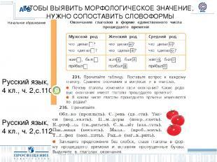 Русский язык, 4 кл., ч. 2,с.110 ЧТОБЫ ВЫЯВИТЬ МОРФОЛОГИЧЕСКОЕ ЗНАЧЕНИЕ, НУЖНО СО