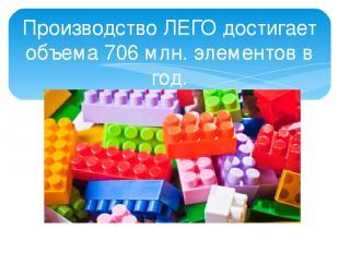 Производство ЛЕГО достигает объема 706 млн. элементов в год. Сразись с силами Пе