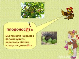 плодоносИть Мы пришли на рынок яблоки купить: перестала яблоня в саду плодоносИт