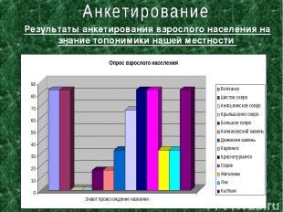 Результаты анкетирования взрослого населения на знание топонимики нашей местност