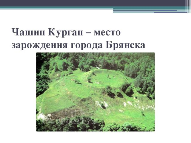 Чашин Курган – место зарождения города Брянска