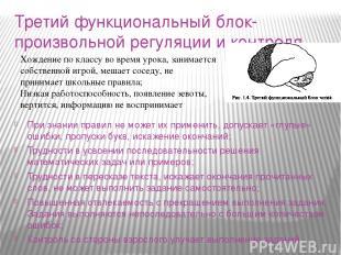 Третий функциональный блок-произвольной регуляции и контроля При знании правил н