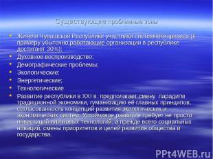 Существующие проблемные зоны Жители Чувашской Республики участники системного кр