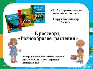 УМК «Перспективная начальная школа» Окружающий мир 2 класс Кроссворд «Разнообраз