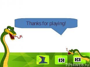 Thanks for playing! Clique para editar o estilo Faça clique para editar o estilo
