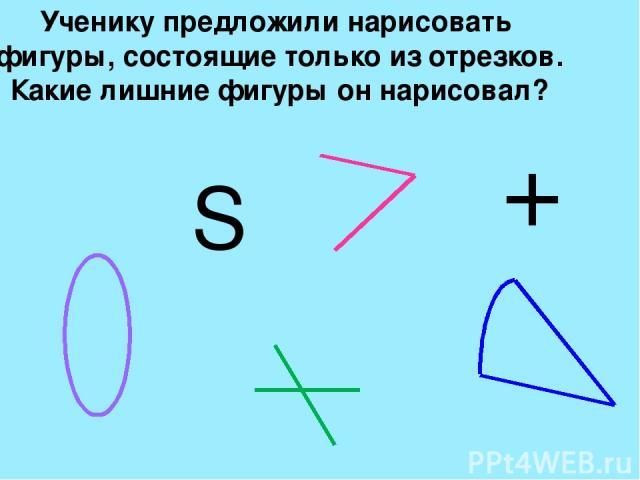 Практическое задание №1 Нарисуй следующие фигуры: А)Две пересекающиеся прямые. Б) Круг и внутри него квадрат В) Ломаную с пятью звеньями Проверка: