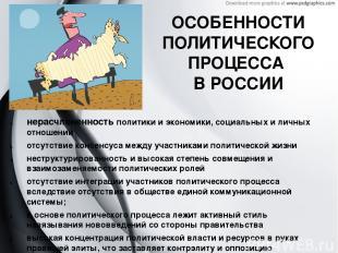 ОСОБЕННОСТИ ПОЛИТИЧЕСКОГО ПРОЦЕССА В РОССИИ нерасчлененность политики и экономик