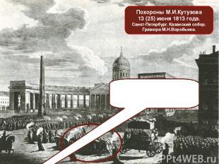 Похороны М.И.Кутузова 13 (25) июня 1813 года. Санкт-Петербург. Казанский собор.