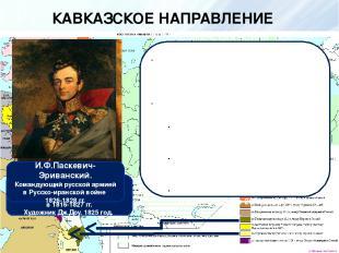 КАВКАЗСКОЕ НАПРАВЛЕНИЕ РУССКО-ИРАНСКАЯ ВОЙНА 1826-1828 гг. Стремление Ирана верн