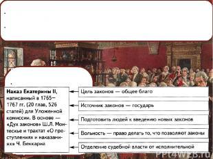 Екатерининская комиссия 1767 г. Художник М.Зайцев. 1767-1768 гг. – работа Уложен
