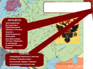 Основные направления внешней политики России во второй половине XVIII века: ЮЖНО