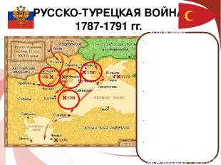 РУССКО-ТУРЕЦКАЯ ВОЙНА 1787-1791 гг. ХОД ВОЙНЫ: 1788 год – взятие крепости Очаков