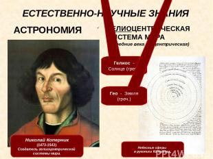 ЕСТЕСТВЕННО-НАУЧНЫЕ ЗНАНИЯ Леонардо да Винчи (1452-1519). Автопортрет. Проекты Л