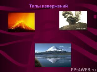 Типы извержений