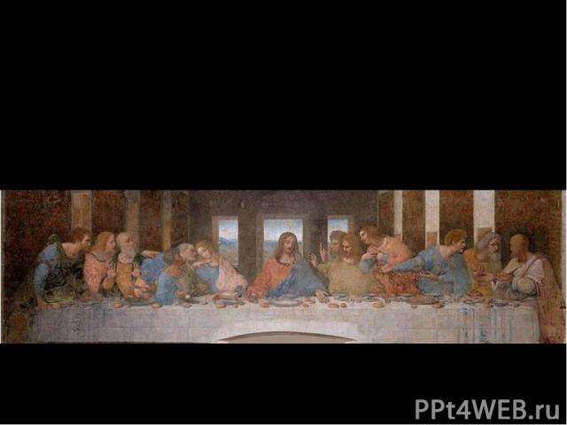 """Еще более их огорчали вечные эксперименты мастера с красками. Так, знаменитая """"Тайная Вечеря"""", которую Леонардо решил писать маслом, начала разрушаться еще при жизни художника."""