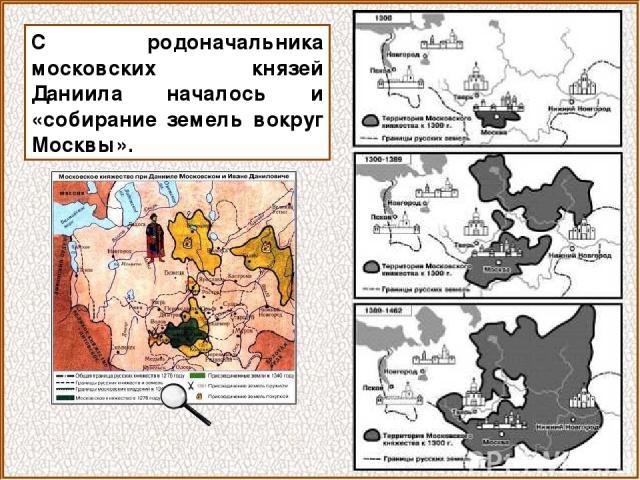 С родоначальника московских князей Даниила началось и «собирание земель вокруг Москвы».