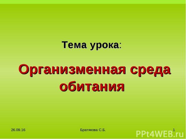 в * Братякова С.Б. * Братякова С.Б.