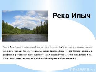 Река в Республике Коми, правый приток реки Печоры. Берёт начало в западных отрог