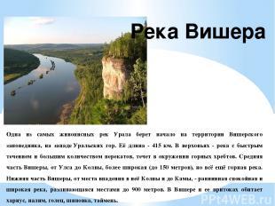 Одна из самых живописных рек Урала берет начало на территории Вишерского заповед