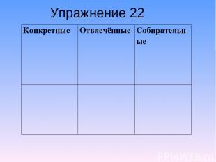 Упражнение 22 Конкретные Отвлечённые Собирательные