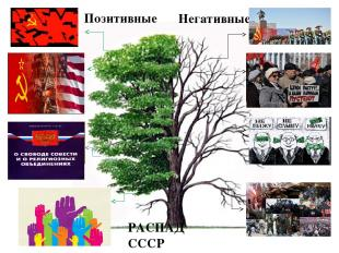 Позитивные Разрушение тоталитарной системы Прекращение гонки вооружении и военно