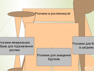 йонний Розчини в рослинництві Розчини мінеральних добрив для підживлення рослин
